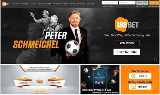 Web cá độ bóng đá tiện dụng 188Bet